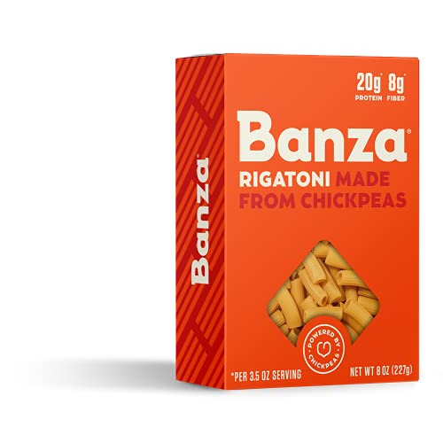 Banza Chickpea Pasta, Bowties - Gluten Free Healthy Pasta, High Protein, Lower Carb and Non-GMO - (Pack of 6)