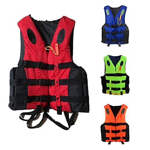 Chaleco de natación para adultos y niños, chaleco de flotabilidad para kayak, material impermeable Oxford, utilizado para esnórquel, natación, surf