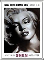 ポスター シェン マリリン シルバー 額装品 アルミ製ハイグレードフレーム(シルバー)