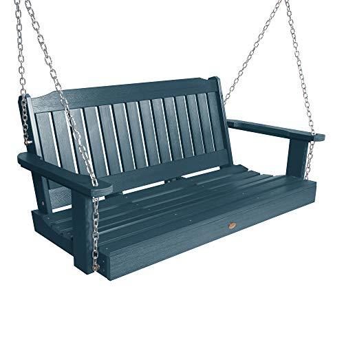 highwood AD-PORL2-NBE Lehigh Porch Swing, 4 Feet, Nantucket Blue