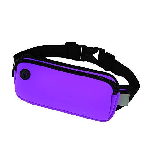 Sporttas met Fanny hoofdtelefoonaansluiting voor 7.2 inch Smart Phone verstelbare maat dames heren onzichtbare nacht fitnessuitrusting lopen meervoudig heuptas