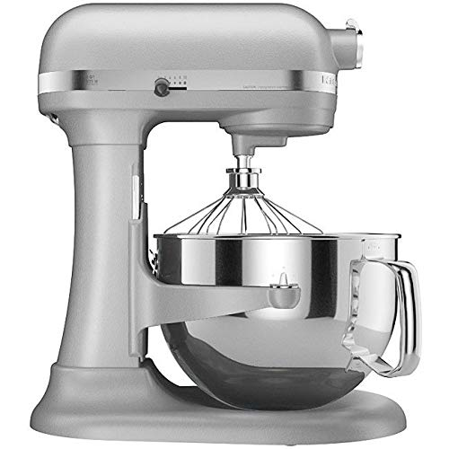 KitchenAid RKP26M1XMC Professional 600 Series Bowl-Lift Stand Mixer, 6 Quart, Metallic Chrome (Renewed)