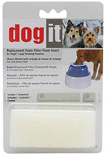 Dogit Fresh and Clear Pet Fountain Replacement Foam, 1 Set (2 Pieces), 12 Pack