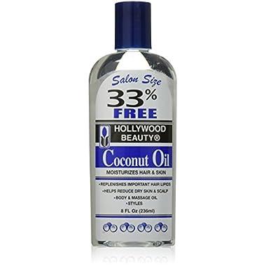 Hollywood Beauty Coconut Oil Moisturizes Hair and Skin, 8 Ounce
