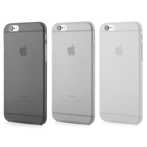 Smartphone case cover Tenuis Transparent ultra slim from Quadocta, Policarbonato, Set: 1x Schwarz; 1x Weiss; 1x Grau, iPhone 6/6s (4,7')