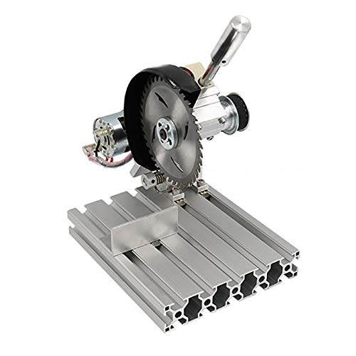 T-king DIY Cutting Machine- Mini Aluminum Alloy 4 inch Table Saw Household Stainless Steel Cutter (C)