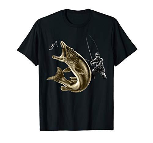 Das Geschenk für Angler - Fishing Fight II Hecht und Angler T-Shirt