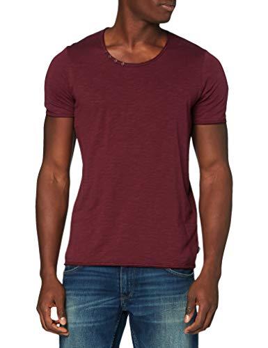 Jack & Jones JJDETAIL Tee SS U-Neck Shirt, Port Royale/Fit:Slim FIT, L Homme