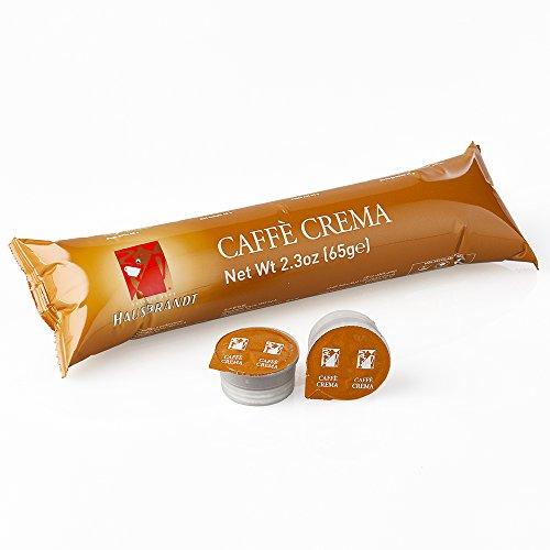 50 Capsule Hausbrandt Caffè Crema. Miscela di caffè tostato e macinato confezionato in capsule monodose