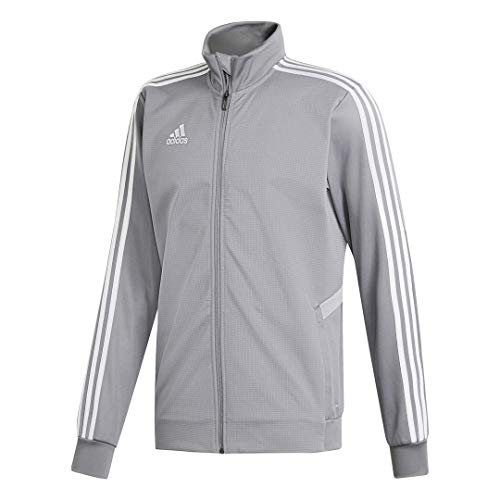 adidas Men's Tiro 19 Training Jackets (Large, Grey/Clear Onix/White)