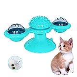 PTN Juguetes interactivos para Gatos, Juguete de Gato Giratorio Ventosa para Cosquillas y Limpieza de Dientes, con Bola...