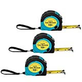 Where's My Tape Measure? - 3 Pack of 10 ft, Locking, Retractable...