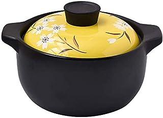 Cooking Pot Open Fire Universal Cocotte,Milk Dessert Cooking Rice Heat Resistant Stew Pot,Ceramic Casserole Dish Health So...