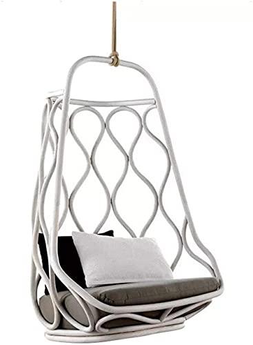 LOXZJYG Silla Mecedora Cubierta Mecedora Interior Canasta Colgando Swing Rattan sofá al Aire Libre Muebles de ratán Soltero Cuna Silla Colgando Sofá