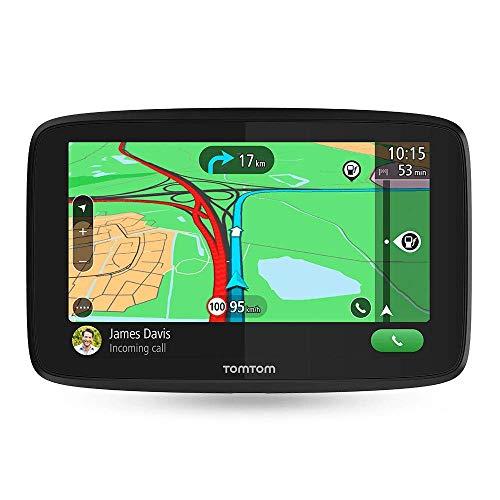 TomTom GO EssentialNavigatore Satellitare per Auto - 5 Pollici, Chiamata in Vivavoce, Siri Google Now, Aggiornamenti Tramite Wi-Fi, Traffic a Vita da Smartphone e Mappe Ue, Messaggi Dello Smartphone