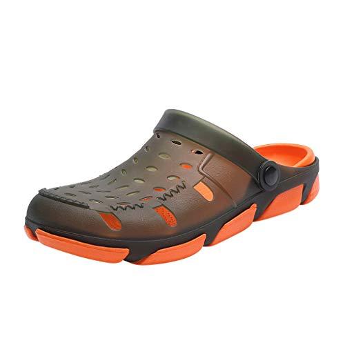 Infradito e Ciabatte Scarpe Fitness Scarpe Ginnastica Running Sneakers Sneakers Atletico Palestra Scarpe Sport Scarpe Trail Running Scarpe Moda Sportive Uomo (44 EU,Arancia)