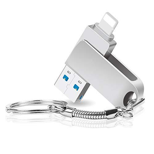 YZPUSI USB 3.0 32 GB Pendrive,  2 en 1 32 GB USB 3.0 OTG Memoria USB Flash Drive Stick Conector para iPone Pad