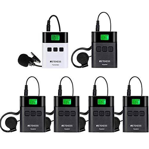 Retekess TT122 Tour Guide System Wireless Audio Tour Guide System Channel Lock 36 Kanaal voor Fabrieksbezoeken…