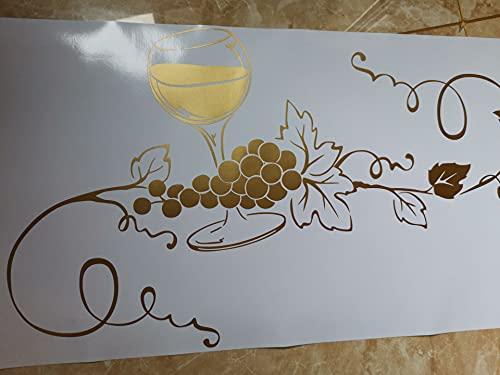 Enioy Drink Time Vino tinto Copa Vaso Uva Vid Cocina Tienda de vinos Bar Pub Etiqueta de la pared Vinilo Arte Calcomanía Dormitorio Sala de estar Oficina Club Decoración del hogar Mural