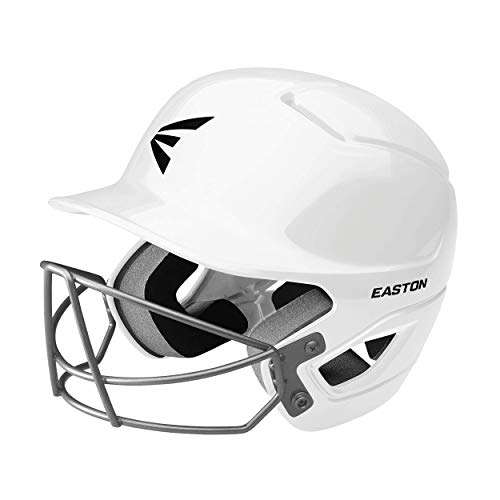 Easton ALPHA Batting Helmet with Mask | Baseball Softball | 2020 | TBall / Small | White | Dual-Density Impact Absorption Foam | High Impact Resistant ABS Shell | BioDRI Liner | Removable Logo