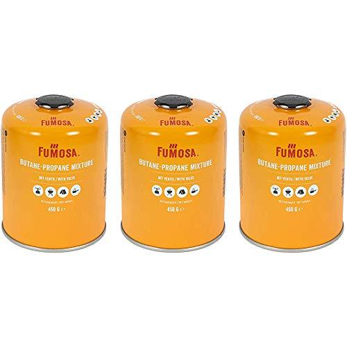 FUMOSA Gaskartuschen Set für Weber Q100/1000-Serien, Performer & Go Anywhere, Ventilkartusche je 450g Anzahl 3 Kartuschen