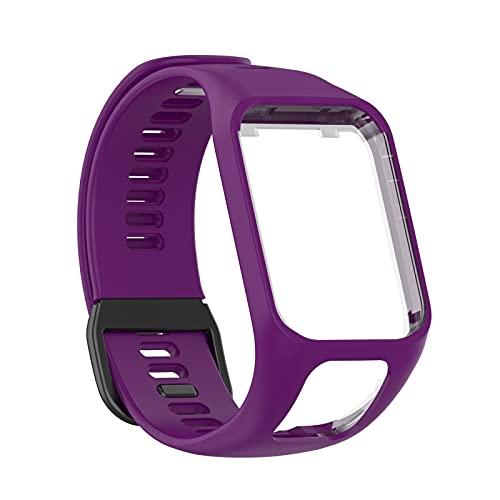 BASOYO Bracelet de rechange pour montre Tom Runner23/Spark - En silicone imperméable - Pour homme et femme.