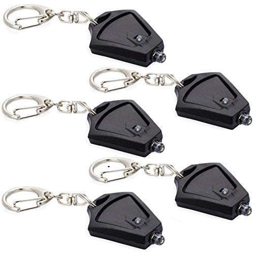 Finware 5 Pack Mini LED Keychain Flashlight, Ultra Bright Key Ring Light Torch, Batteries Included