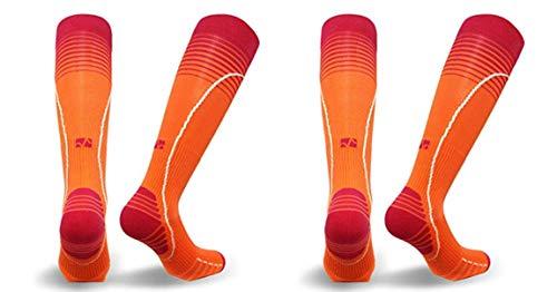 Vitalsox Silver Drystat Graduated Compression Socks (2 Pack), Orange/Orange, Medium