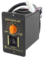 SOURCING MAP sourcingmap® Controlador de velocidad de Motor de CA 220V 50Hz 200W 1 Fase CW/DCW 10-90RPM ajustable de la unidad