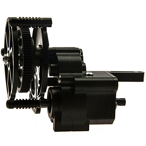Que-T Aluminum Alloy Transmission Case /Gearbox Steel Gear for 1/10 Axial Wraith 90018 90020 90031 RC Truck