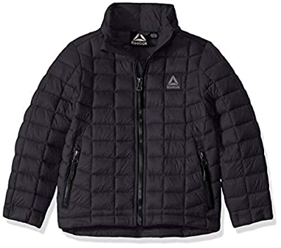 Reebok Boys' Big Active Outerwear Jacket (More Styles Available), Classic Charcoal, 18/20