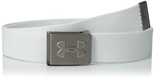Under Armour 1252132-100 Ceinture Homme Blanc FR : OneSize (Taille Fabricant : OSFA)