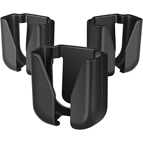 3 Pieces Stethoscope Holder Clip Waist Belt Stethoscope Holder Clip Plastic Nursing Stethoscope Holder Clip for Nurses Physicians (Black)