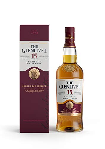 The Glenlivet 15 Jahre Single Malt Scotch Whisky – French Oak Reserve Scotch Single Malt Whisky – 1 x 0,7 L