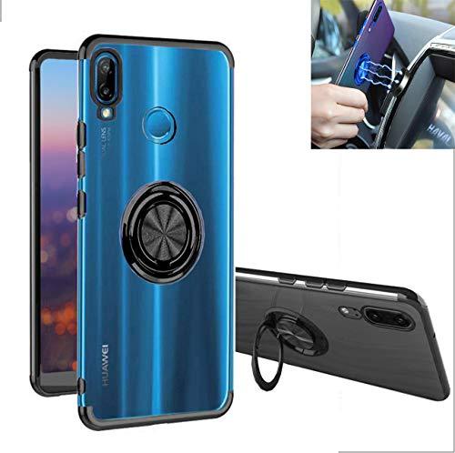 Funda Huawei P20 lite case,TPU silicona transparente,360 ° anillo Kickstand Soporte,Estuche tecnología…