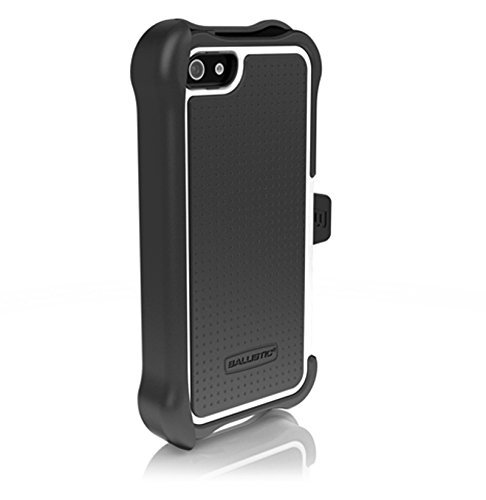 Ballistic SX0945-M385 Maxx Case with Holster and Screen Protector for Apple iPhone 5/5S - Retail Packaging - Black/White
