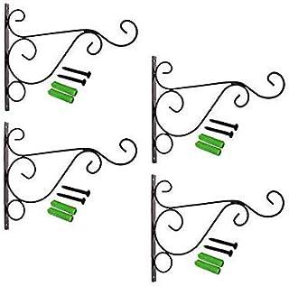 LAVZAN ديكور الحديد معدن جدار هوك النبات شماعات الرعي هوك فانوس الجدار شنقا للتعليق النباتات في الهواء الطلق ، تغذية الطيو...