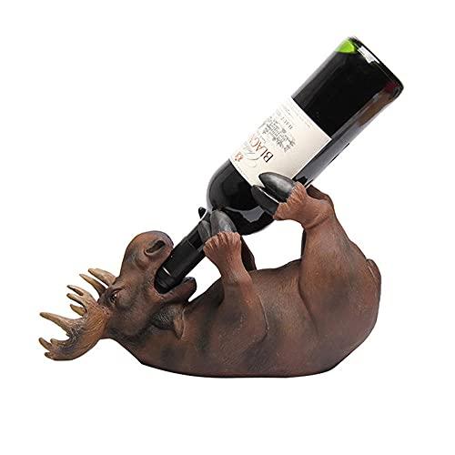 Estantería de Vino para Botellas, Porta Botella de Vino Gato & Ciervo Decoración del Estante del Vino Botellero de Independiente Porta Vino para Cocina, Restaurante, Bar, Bodega