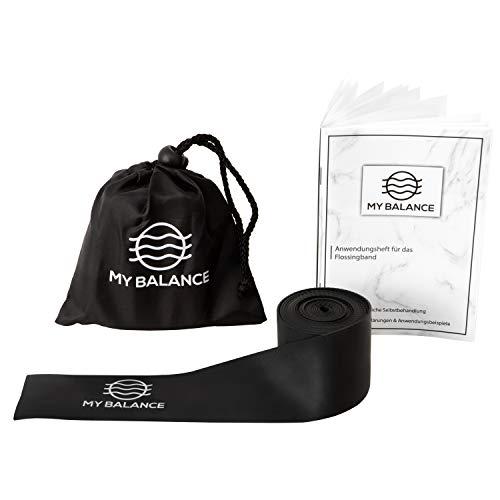 My Balance® Flossband + GRATIS Anwendungsheft 24seitig, hochwertiges Flossing Band für Medical flossing - intensiviere Dein Training, verbessre Deine Regeneration & steigere Dein Wohlbefinden