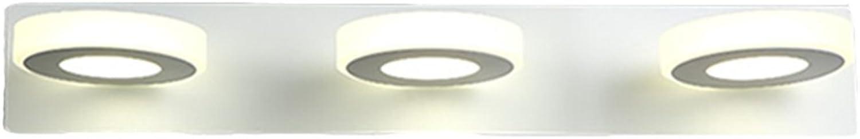 LJHA jingqiandeng Spiegel-Scheinwerfer-Badezimmer-LED justierbare wasserdichte Bad-Lampe drehbares energiesparendes Kabinett-Licht Bad Wandleuchten (Farbe   Natürliches licht-48  3cm(3W3))