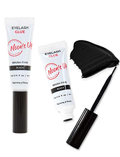 NOON'S UP Eyelash Glue Black 0.14 fl oz 4ml - eyelash glue lash glue eyelash adhesive strip lash glue eyelashes glue ceramide waterproof water resistant