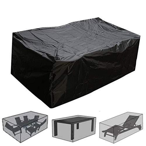 Jakroo Gartenmöbelbezug Sofastuhl Wasserdicht Schutzhülle Staubdichte Abdeckungen Cube Chair Sofa Wasserdicht Regenstaubschutzabdeckungen,315x160x74cm