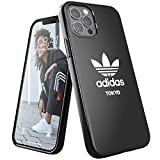 adidas Funda diseñada para iPhone 12, iPhone 12 Pro, 6,1 Pulgadas, Fundas a Prueba de caídas, Bordes elevados, Carcasa Original Tokyo Snap Case Cover Negro Blanco Logo