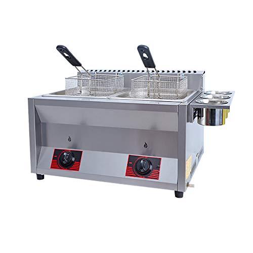 MGW Freidoras de Grasa para Uso doméstico Fácil Limpieza, freidora de Gas, Utilizada para brochetas de Pollo Frito, etc.