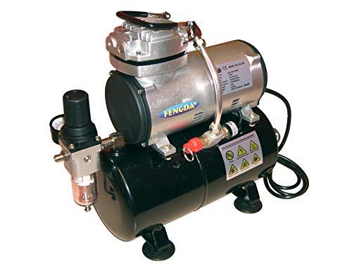 Hobby Airbrush Kompressor mit dem Druckbehälter Fengda® AS-186