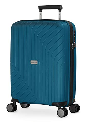 HAUPTSTADTKOFFER- TXL - lichte handbagage, handbagage koffer met harde schaal van stevig polypropyleen, cabinekoffer 55 cm, 36 L, TSA-slot, donkerblauw