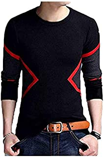 Veirdo Men's Full Sleeve Round Neck Cotton T-Shirt - Multicolor