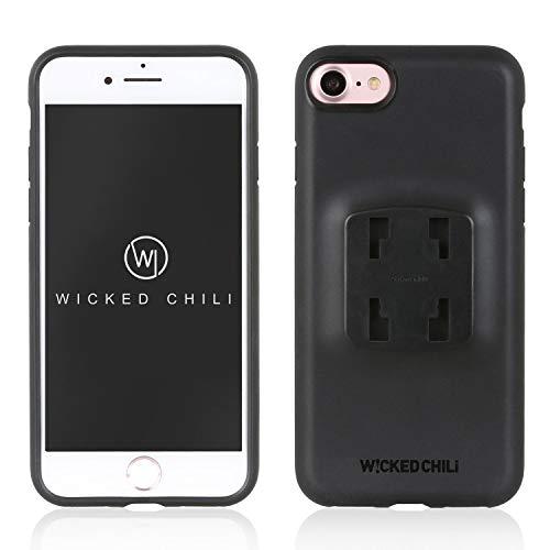 Wicked Chili QuickMOUNT Case kompatibel mit iPhone SE 2020, iPhone 7 und iPhone 8 Outdoor Schutzhülle, Handy Schale, iPhone SE 2/7 / 8 geeignet für KFZ und Fahrrad Halterung