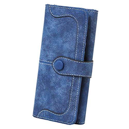 """Damen RFID Lange Brieftasche Armband Geldbörse Große Kapazität 18 Kartensteckplätze Kartenhalter 5,5"""" Handytasche Vegan Leder"""