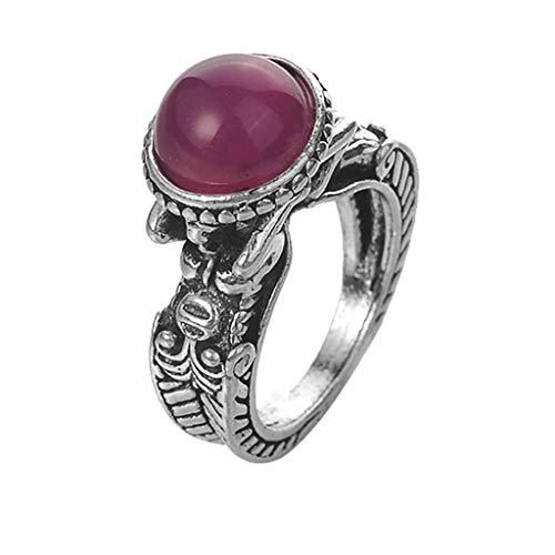 UINGKID Schmuck Damen Ring Persönlichkeit Einfaches Retro eingelegter Rhinestone-Mehrfarbenring-Damen-Schmuck
